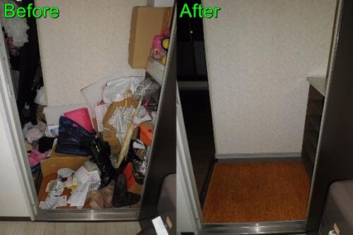 西宮市内のマンション 室内の不用品回収