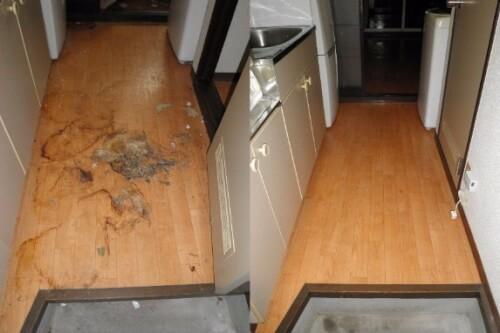 床の汚れを特殊清掃でキレイに