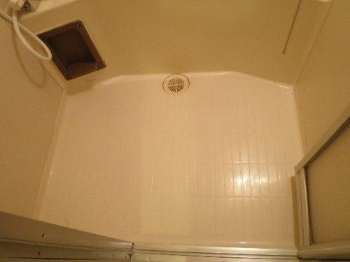 キレイになったバスルームの床面