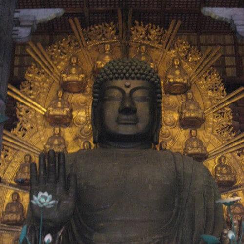 外国人観光客に大人気の奈良の大仏さまとシカ