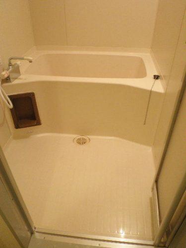 浴室内の汚れも落として、照明が反射するほどピカピカに