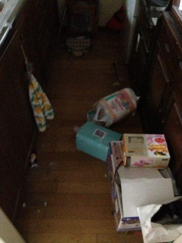 都島区の汚部屋 キッチン片付け前