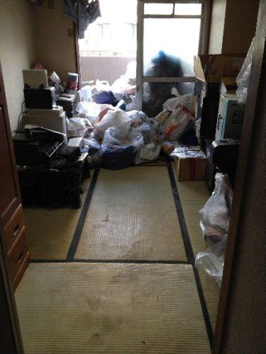 仕分け終了床掃除