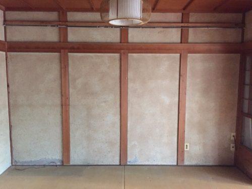 和室の居間 片付け作業で視界がスッキリ
