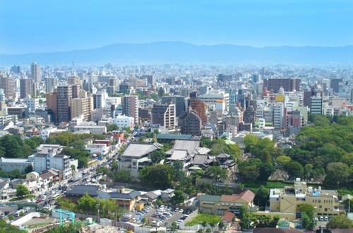 東大阪市一帯の景色